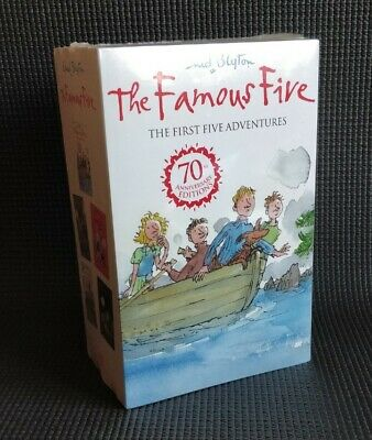 Enid Blyton: THE FAMOUS FIVE [First Five Book Set] 70th Anniversary Edition NEW • 14.99£