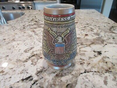 $ CDN96.78 • Buy Vintage Anheuser Busch 200 Year Bicentennial USA 1976 Stein Rare No Lid Version