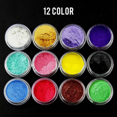 £2.79 • Buy 12 Color Set Mica Pigment Powder Perfect For Soap Cosmetics Resin Colorant Dye/