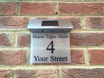 £29.99 • Buy House Sign With Solar Light / Modern House Sign / House Plaque / House Number