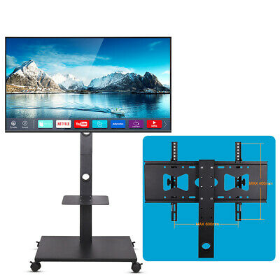 £53.98 • Buy Mobile TV Trolley Stand Mount Cart Entertainment Unit With Shelf For 32 -70  LCD