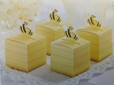 12 Mummy & Baby Bee HoneyPot Favour Box Baby Shower Party Christening Naming Day • 5£