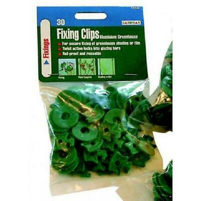 Pack 30 Gardman Greenhouse Shading Fixing Clips Fixers / Clips Plastic • 3.99£