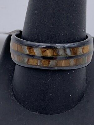 $99.95 • Buy Men's Steel Revolt Band, Ceramic W/Antler Inlay, Size: 11 (LE-CT) (PDS006453)