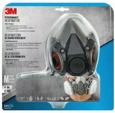 AU108 • Buy 3m Safety Half Face Perfomance Project Respirator+cartridges+filters Made In Usa