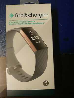 $ CDN115 • Buy Fitbit Charge 3 Activity Tracker - Blue Gray / Rose Gold
