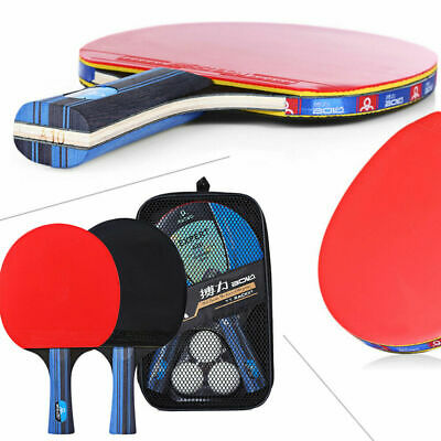 AU24.99 • Buy 1 Pair Professional Table Tennis Ping Pong Racket Blade Paddle Bat W/ Cover Case