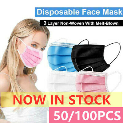 AU16.90 • Buy 10/50/100PCS Anti-Dust Disposable Face Masks Surgical Protective 3Layer Mask