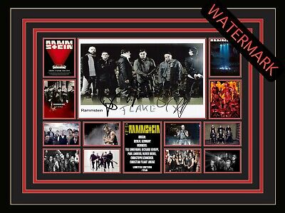AU94.99 • Buy Rammstein Till Lindemann Limited Edition Signed Framed Memorabilia Stadium Tour