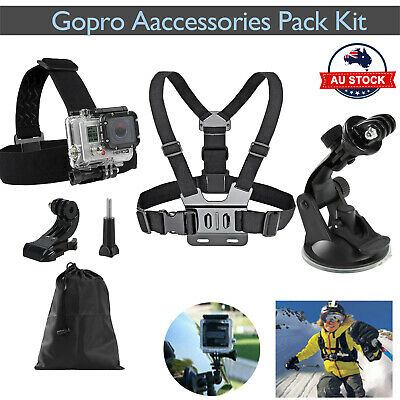 AU12.34 • Buy Accessories Pack Chest Head Strap Suction Cup Mount Monopod For GoPro 9 8 7 6 5
