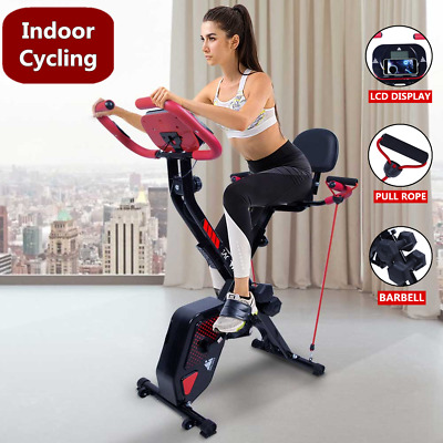 £142.99 • Buy 3IN1 Folding Magnetic Exercise Bike Fitness Workout Training Home Gym Bicycle