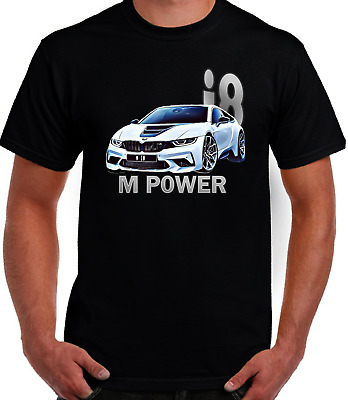 AUTOTEE FAN BMW I8 M POWER  COOL GRAPHIC ART DESİGN HIGH QUALITY HEAVY T SHIRT • 14.49£