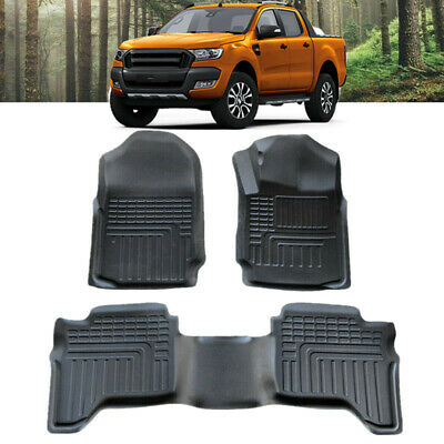 AU99.95 • Buy All Weather Floor Mat Carpet Liner For Ford Ranger PX PX2 PX3 Dual Cab 2011-2020