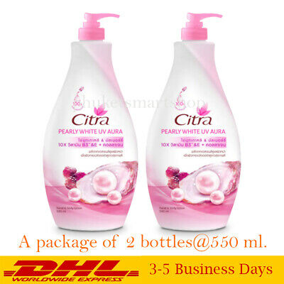 $ CDN39.25 • Buy Citra Body Lotion Pearly White UV Aura Protection Brightening Collagen 550 Ml X2