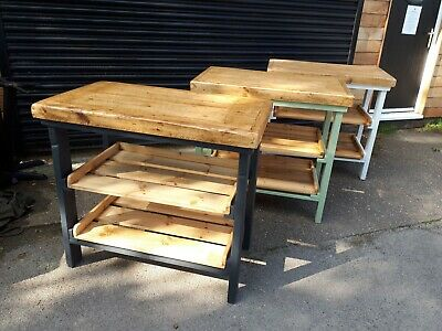 Kitchen Island, Breakfast Bar, Butchers Block  ,2 Pull Out Shelfs,FREE DELIVERY • 299£