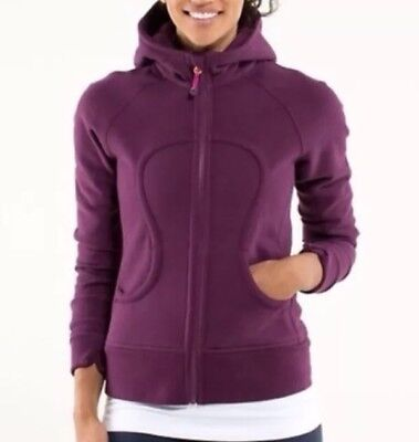 $ CDN50 • Buy LULULEMON ATHLETICA Purple/ Plum Cotton SCUBA HOODIE JACKET/ Coat Size 6-8 MED