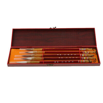 5pcs Chinese Caligraphy Writing Painting Brushes Wolf Hair Drawing Brushes • 9.21£
