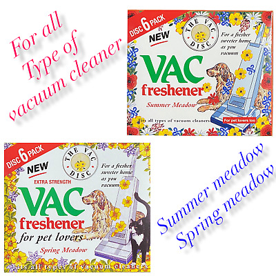 Vac Disc Hoover Vacuum Cleaner Air Freshener Discs For Pet Lovers Home Office • 2.89£