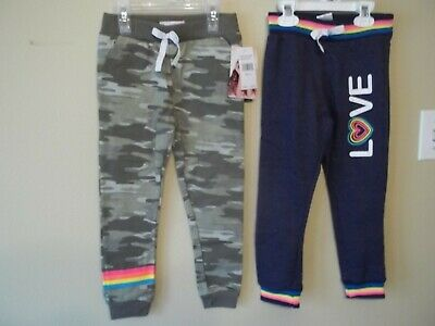 $17.99 • Buy Lot Of 2 Freestyle Revolution Girls Jogger Pants-4-Camo-Blue-Love