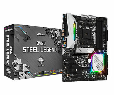 AU179 • Buy AsRock ATX M.2 B450 Steel Legend AM4 AMD Ryzen Desktop PC Motherboard