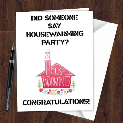 New Home House Mortgage Good Luck Moving Card Funny Rude Congratulations L204 • 2.49£