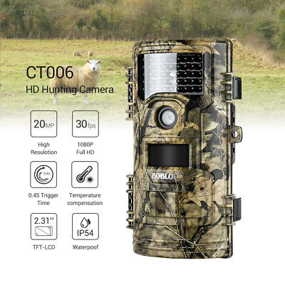 £78.68 • Buy 20MP Hunting Camera 1920x1080P 30fps House Farm Security Infrared No Spy Hidden