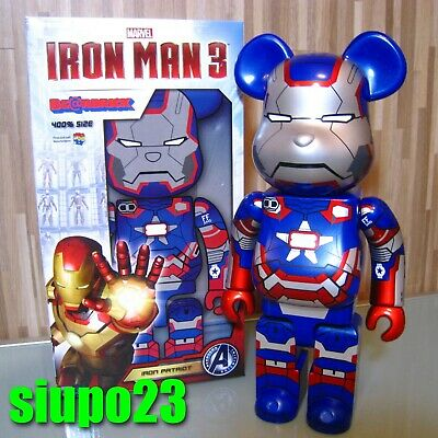 $669.99 • Buy Medicom 400% Bearbrick ~ Marvel Ironman Be@rbrick Iron Patriot
