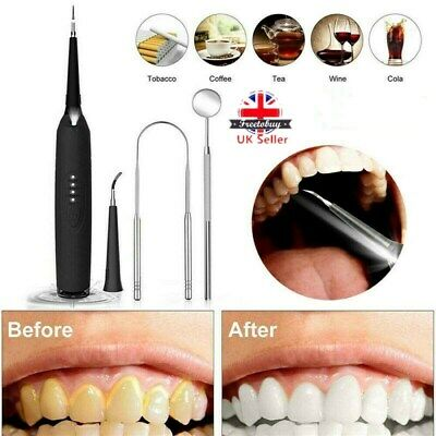 Electric Sonic Plaque Dental Scaler Tartar Calculus Remover Tooth Stains Tool • 13.99£