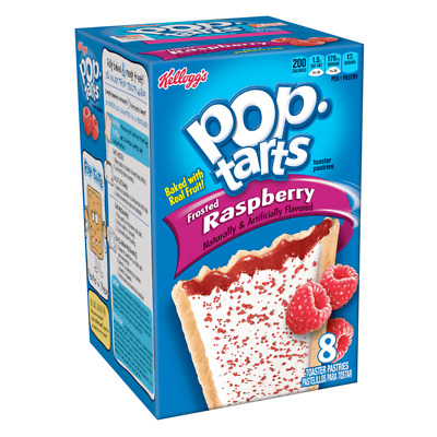Kellogg's Pop Tarts Frosted Raspberry - American Import - Box Of 8 • 7.95£