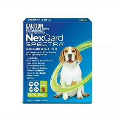 AU90 • Buy NexGuard Spectra Chewables For Dogs Green 6 Pack For Flea, Tick And Heartworm