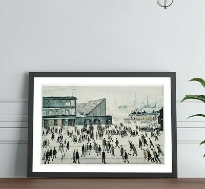 LS Lowry Going To The Match FRAMED WALL ART PRINT PAINTING Artwork 4 SIZES • 6.99£