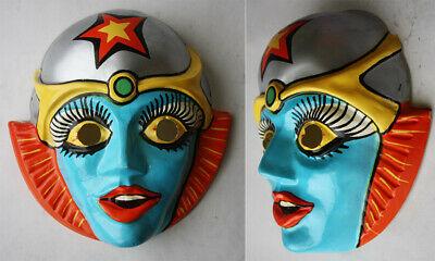 $ CDN63.26 • Buy Rare Vintage 80's Space Japanese Anime Woman Plastic Face Haloween Costume New!