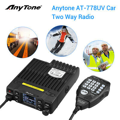 AnyTone AT-778UV VHF/UHT 200 Channels Smart Car Mobile Radio CB Transceiver • 115.42£