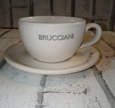 Brucciani Coffee Cup And Saucer Rare DUDSON Made In England Retro Nostalgia • 17.99£