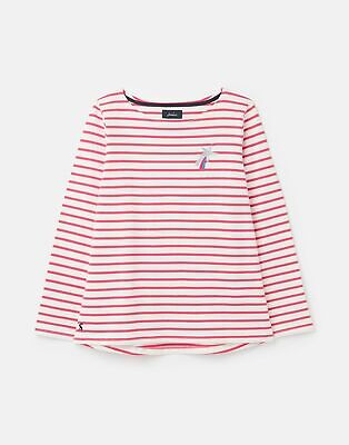 Joules Womens 212381 Long Sleeve Jersey Top - Pink Stripe • 18.36£