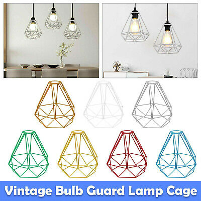 Modern Industrial Geometric Pendant Light Shade Wire Frame Ceiling Lampshade New • 8.99£