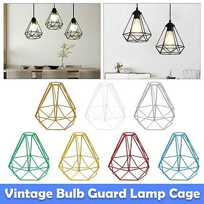 £7.29 • Buy Vintage Metal Cage Industrial Wire Frame Pendant Light Loft Ceiling Lamp Shade