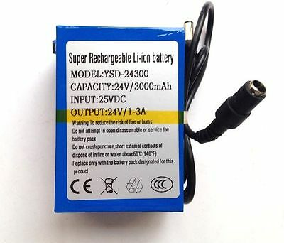 £60.99 • Buy 24V DC Rechargeable Li-ion Battery Pack 3000mAh Lithium-ion With UK Charger