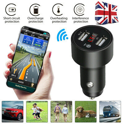 Car USB Car Charger Voltmeter GPS Tracker Locator Real Time Tracking Device Dual • 7.29£