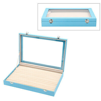 Teal Leatherette Anti Tarnish 150 Slot Ring Jewelry Box With 2 Latch Clasp • 27.77£