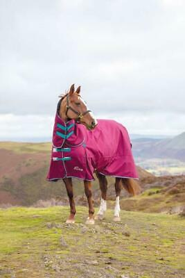 Shires Highlander Heavyweight 300g Horse Turnout FullNeck Combo Rug In Raspberry • 80.99£