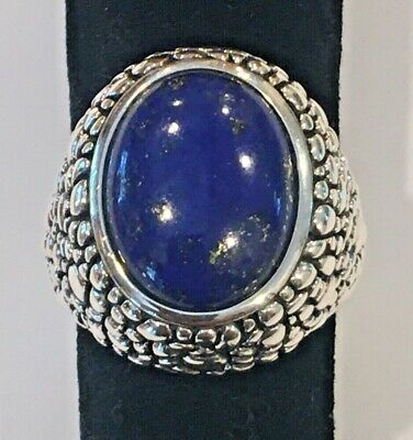$ CDN78.63 • Buy Whitney Kelly WK Sterling Silver Dome Ring With Oval Lapis Size 9