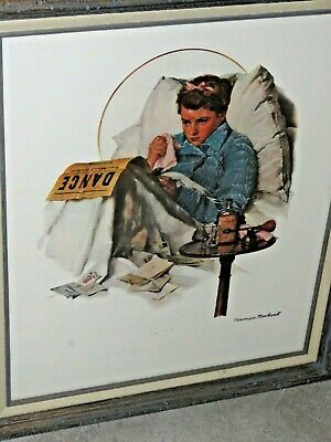 $ CDN380.61 • Buy Norman Rockwell Lithograph Print LE 210/750 Hand Signed The Cold 22x26
