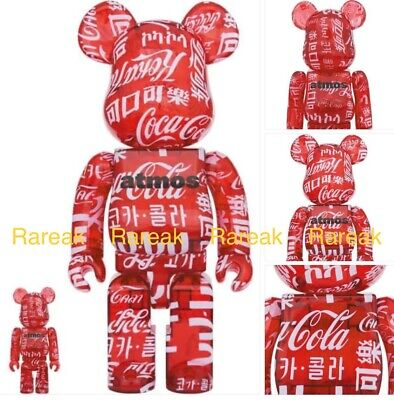 $389.99 • Buy Medicom Bearbrick 2020 Atmos Coca Cola Clear Red 400% & 100% Be@rbrick Set 2pcs