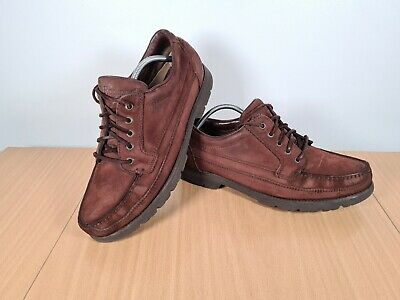 Rockport Brown Leather GoreTex Waterproof Shoes Size 12W UK 11 Vibram Sole • 29.95£