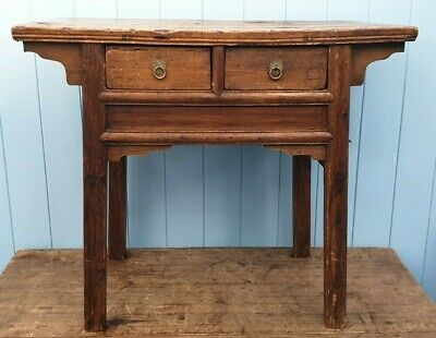 ALTAR TABLE CHINESE JAPANESE 18th CENTURY TWO DRAWERS TROPICAL SOFTWOOD • 325£