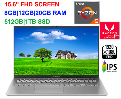 "View Details 2020 ASUS 15.6"" FHD VivoBook AMD Ryzen 5 3500U,Up To 3.7 GHz, 20GB RAM &1TB SSD • 568.99$"