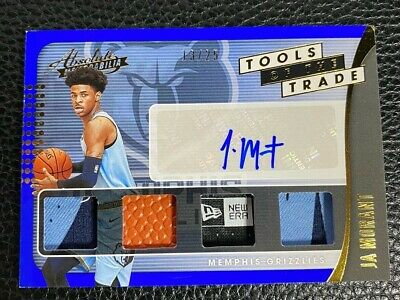 AU1633.67 • Buy Ja Morant 2019-20 Absolute Tools Of The Trade Rookie Quad Logo Patch Auto #13/25