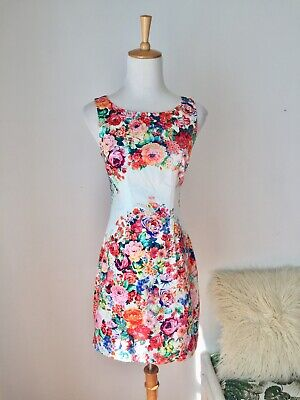 AU30 • Buy Forever New Summer Dress With Floral Pattern Size 6 , Casual Party Races