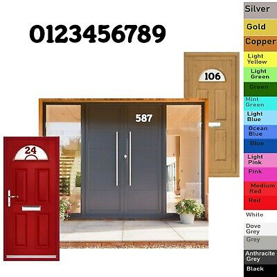 Gate Wheelie Bin Door House Numbers Self Adhesive Vinyl Decals Stickers  01 • 0.99£